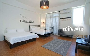 台东酒店公寓住宿:淡雅舒适四人房
