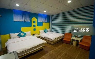 宜兰酒店公寓住宿:希腊风情六人房