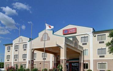 达拉斯酒店公寓住宿:南沃斯堡伯利森康福特套房公寓