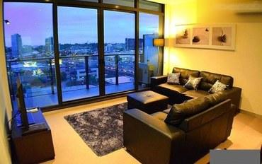 墨尔本酒店公寓住宿:尊贵享受2室的公寓——迷人的景色