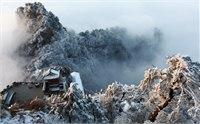 2015小寒游武当山 武当山迎来2015年第一场雪