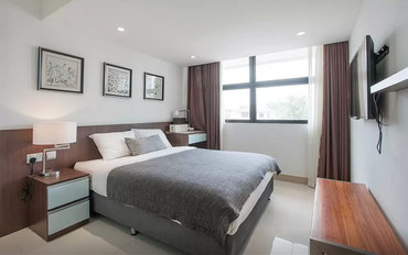 新加坡酒店公寓住宿:景万岸地铁站2号现代别墅豪华服务08套房
