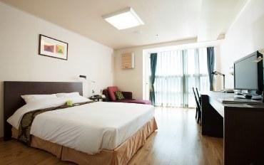 首尔酒店公寓住宿:江南中心温馨大床房&带厨房