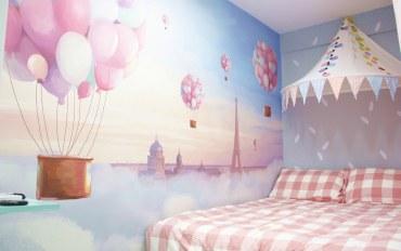 香港酒店公寓住宿:小清新双人大床房