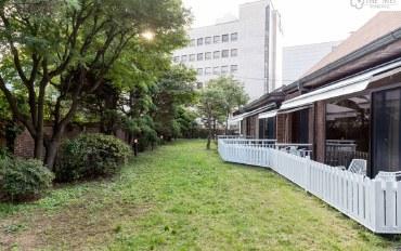 韩国酒店公寓住宿:东大门Mei豪华三人房-公用厨房客厅