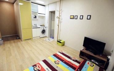 韩国酒店公寓住宿:明洞附近的现代单间