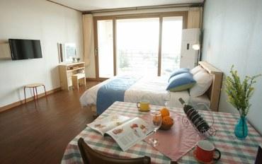 济州岛酒店公寓住宿:临近景区的舒适现代二人房