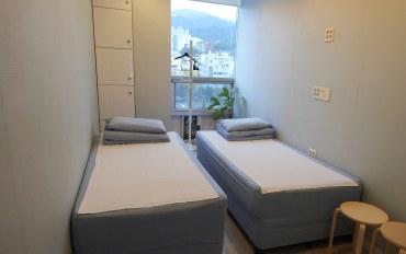 釜山酒店公寓住宿:海云台附近的双床房