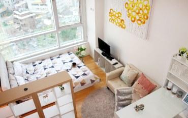 首尔酒店公寓住宿:位于首尔站的现代复式房