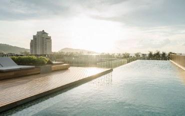 普吉岛酒店公寓住宿:满3晚送接机,泳池景观绝佳2卧公寓