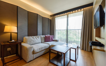 曼谷酒店公寓住宿:阿卡迪亚39平米单卧豪华套房公寓