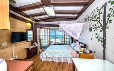 济州岛酒店公寓住宿:济州天青石色大床房
