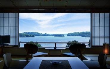 宫城酒店公寓住宿:松岛一之坊和风海景和室