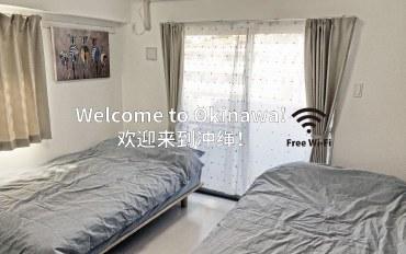 冲绳酒店公寓住宿:那霸机场15分温馨单间公寓