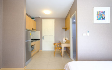 曼谷酒店公寓住宿:素坤逸16单卧带厨房优雅公寓