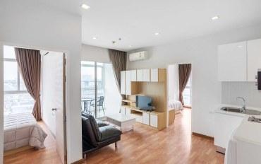 曼谷酒店公寓住宿:轻轨Bang Na站 两个卧室 城市风景