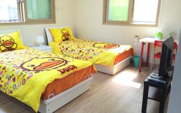 韩国酒店公寓住宿:舒适双床标准间