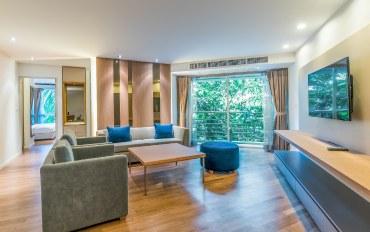 曼谷酒店公寓住宿:两室花园景观92平米公寓_H053