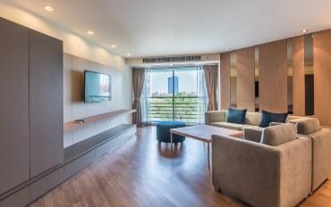 曼谷酒店公寓住宿:花园景观100平2居室公寓 H058
