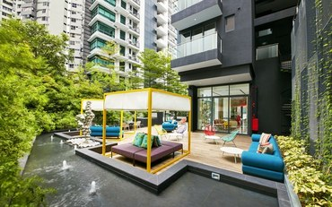 新加坡酒店公寓住宿:近Paragon  奥克伍德一室公寓