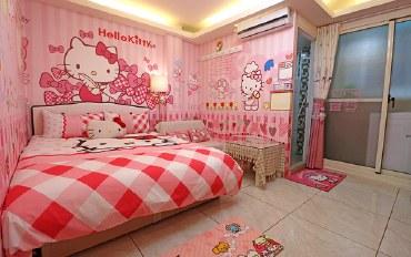 台中酒店公寓住宿:台中逢甲-202 Kitty房