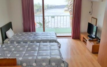 济州岛酒店公寓住宿:近海边的阳光二人房