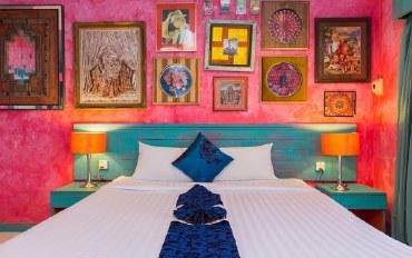 普吉岛酒店公寓住宿:波西米亚风格公寓202,部分海景