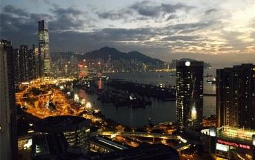 香港酒店公寓住宿:市中心无敌露台海景!近油尖旺中环商圈