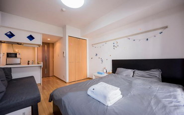 日本酒店公寓住宿:暖暮民宿 心斋桥商店街3号4号馆 大床房