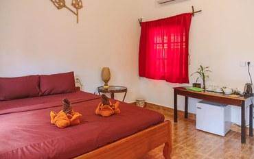 暹粒酒店公寓住宿:放松的热带国家空间-双人床
