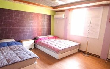 釜山酒店公寓住宿:釜山中心 近地铁站的温馨4人房