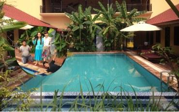 暹粒酒店公寓住宿:放松的热带国家的空间双人和单人床室