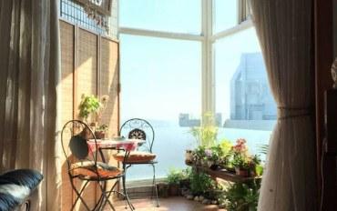 新北酒店公寓住宿:天空蓝4人房