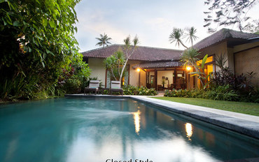 巴厘岛酒店公寓住宿:两卧室泳池别墅 300米到海滩&商店