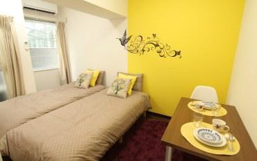 日本酒店公寓住宿:御苑新宿站徒步圈内,免费wifi,3人房