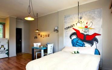 平昌郡酒店公寓住宿:卡通二人床房