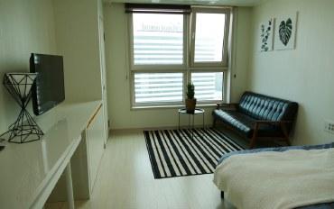 釜山酒店公寓住宿:martion-house海云台宽敞二人