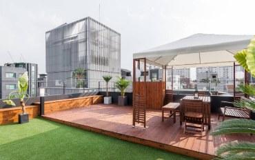 首尔酒店公寓住宿:【弘大】无印良品 时尚风格 超级棒的屋顶