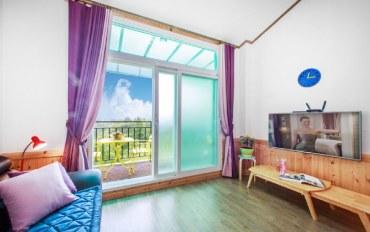 平昌郡酒店公寓住宿:森林度假 复式2人大床房D