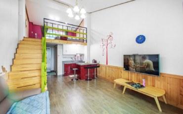 平昌郡酒店公寓住宿:森林度假 复式2人大床房C