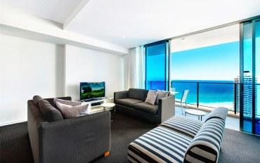 黄金海岸酒店公寓住宿:冲浪者天堂希尔顿高层海景3卧室豪华公寓