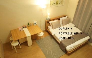 韩国酒店公寓住宿:复式公寓2/东大门/都塔/地铁站出口前