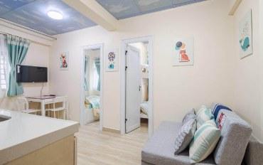 香港酒店公寓住宿:牛奶姐姐新房源(地铁口清新简约三房一厅)