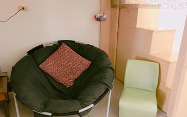 桃园酒店公寓住宿:桃园机场免费接送/捷运坑口站/一楼童话房