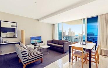 黄金海岸酒店公寓住宿:冲浪者天堂希尔顿2卧2卫豪华公寓