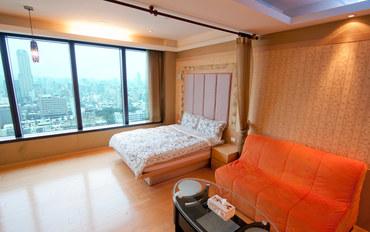 高雄酒店公寓住宿:85大楼绵羊海街景-爱尔兰之星大床房