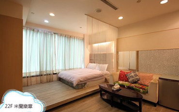高雄酒店公寓住宿:85大楼绵羊海侧街-米兰乐章大床房