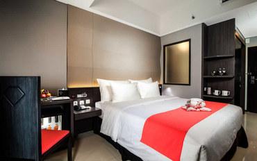 巴厘岛酒店公寓住宿:巴厘岛时尚酒店带水疗浴缸豪华大床或双床房
