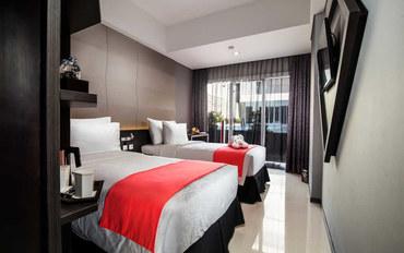 巴厘岛酒店公寓住宿:巴厘岛时尚酒店可使用泳池豪华大床或双床房