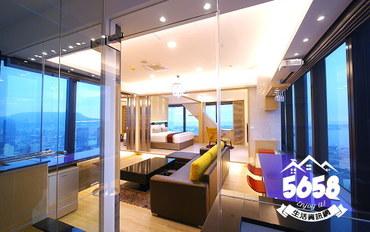 高雄酒店公寓住宿:85大楼Sam的家公寓顶级浴恋大床房